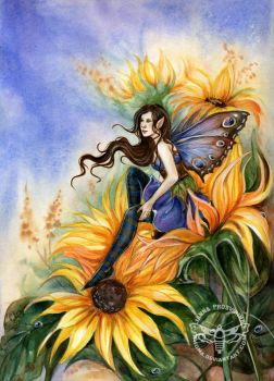 Sunflower by JannaFairyArt