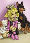 Luna and Dogs by ibroussardart