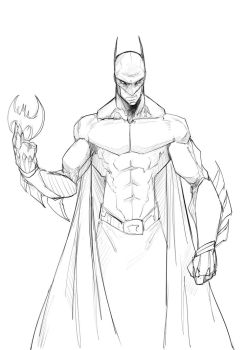Batman warmup by Sketchydeez