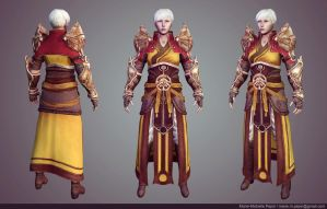 Diablo III Monk Game model by Azraele