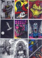 2011 sketch cards by GraphixRob