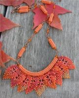 Falling leaves necklace by FoxandMoon