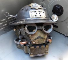 Mechanical Soldier Helmet MK II by Zilochius