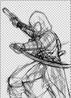 Assassin Rough Sketch Progress by SketchyBehavior