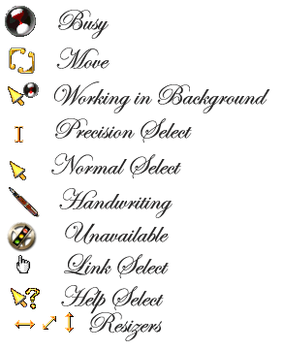 Steampunk Cursors by yereverluvinuncleber