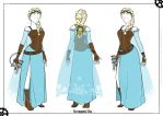 Steampunk Elsa - Cosplay Concept Art by Mibu-no-ookami