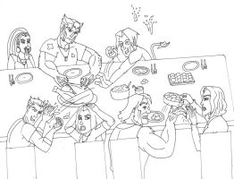 Thanksgiving with the Xmen by LoveMyBlueBully