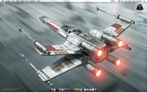 X-Wing Fighter by dustrho