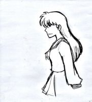 Kagome Doodle by AllenLenalee