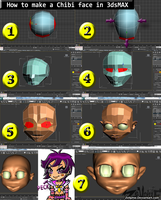 How to make a Chibi face in 3ds Max by Zellphie