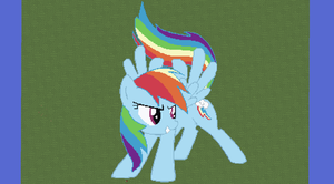 Rainbow Dash Pixel Art by CrazedWD