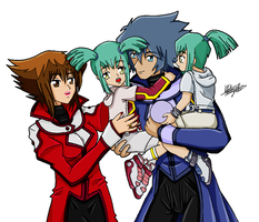Spiritshipping Family - Family Time Coloured by FMAKHR102