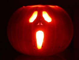 Scream Pumpkin by mikedaws