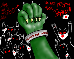 WE PRAY FOR JAPAN by Kat--Monster