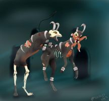 Houndoom Zombies XD by Koe77