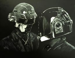 Daft Punk by ClumsyIllustrator