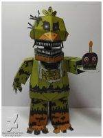 FNAF 4 Nightmare Chica/jack-o-chica papercraft by Adogopaper