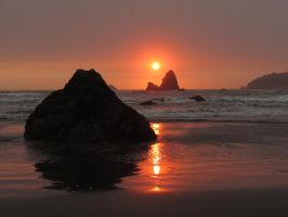 sunset on the Lost Coast by Glacierman54