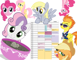 My schedule for Everfree NW 2014 by Lemondrop001