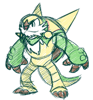 Chesnaught Doodle by Goronic