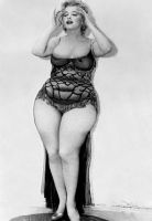 Overweight Marilyn by cahabent