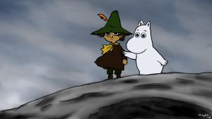 Moomintroll and Snufkin by Mig26