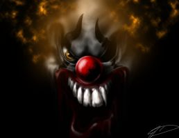 Evil clown by Jcdow3Arts