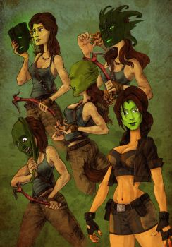 Lara Croft Commission By NomaxXN by OnyxSteelGray1213