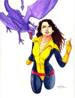 Kitty Pryde with Lockheed by Jerantino