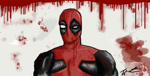 Deadpool - Untitled Drawing by Tipsutora
