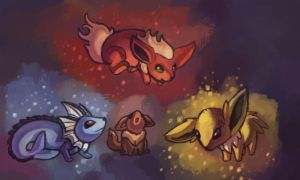 Eeveelutions by BlackjackConcpiracy