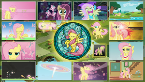 Fluttershy Stained Wallpaper by GT4tube