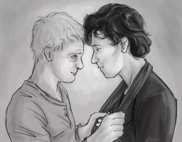 Johnlock fluffiness by Fulcrumisthebomb