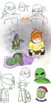 TMNT - Art dump by Lost-InMyWonderland