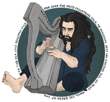 the Hobbit : harp by LadyNorthstar