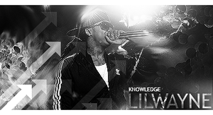 Lil Wayne BlackWhite by KnOwLeDg3