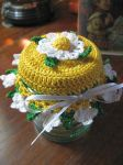 Doily jar lid for my soy candles... by doilydeas