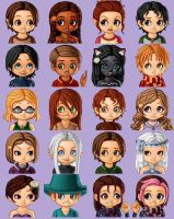 Pendragon Chibi Characters by paego