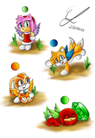 Chao doodles 2 by Azurelly