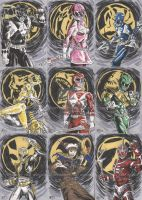 Power Rangers Sketch Cards 1 by tedwoodsart