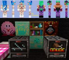 Darkstalkers Minecraft skins and a texture pack by Zchanning