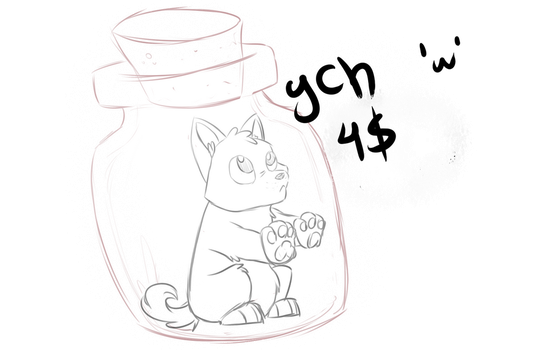 In the bottle - YCH CLOSED by P4ndora-L