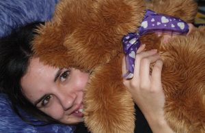 katie and bear by treehugginhippie