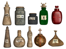 Spooky Potions PNG Stock by Roys-Art