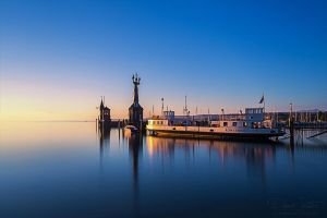 Constance - Lake at sunrise by LinsenSchuss