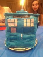 Don't Blink! Tardis Cake by QuirkyCakes