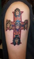 Guns and Roses Cross by johnnyjinx
