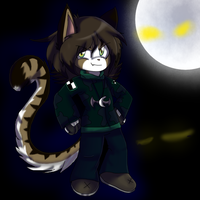 Mirry Night Moon the cat Chibis by gisselle50