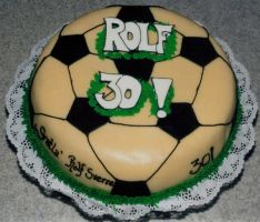 Football-Soccer cake by LizzyLix