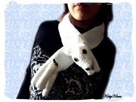 Arctic Fox Scarf by Cateaclysmic